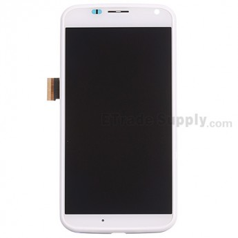 For Motorola Moto X XT1058 LCD Screen and Digitizer Assembly with Middle Frame Replacement - White - Without Any Logo - Grade S+