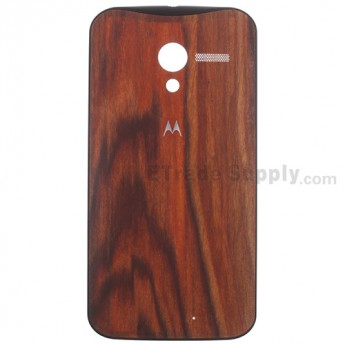 For Motorola Moto X XT1058 Ebony Finish Battery Door Replacement - Black - With Logo - Grade S+