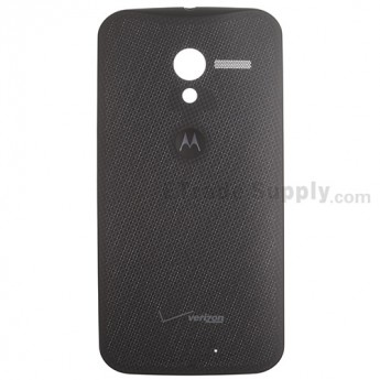 For Motorola Moto X XT1060 Woven Battery Door Replacement - Black - With Logo - Grade S+