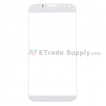 For Motorola Moto X XT1060, XT1058 Glass Lens Replacement - White - Without Any Logo - Grade R