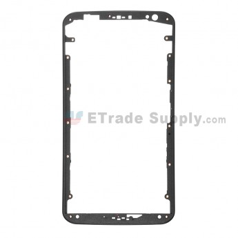 For Motorola Nexus 6 Front Housing Without Adhesive  Replacement - Black - Grade S+