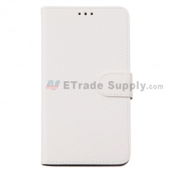 For Motorola Nexus 6 Lichee Pattern Leather Case - White - Grade R