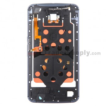 For Motorola Nexus 6 Middle Plate Replacement - Blue - Grade S+