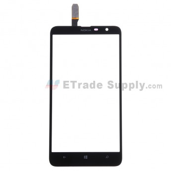 For Nokia Lumia 1320 Digitizer Touch Screen Replacement - Black - Grade S+