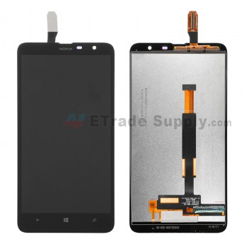 For Nokia Lumia 1320 LCD Screen and Digitizer Assembly Replacement - Black - Grade S+