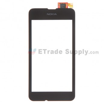 For Nokia Lumia 530 Digitizer Touch Screen Replacement - Black - Grade S+