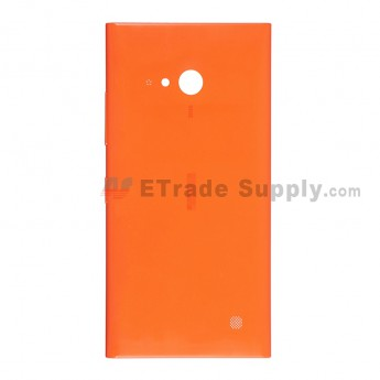 For Nokia Lumia 730 Dual SIM Battery Door  Replacement - Orange - With Logo - Grade S+
