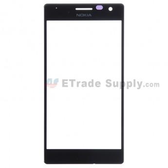 For Nokia Lumia 730 Dual SIM Glass Lens Replacement - Black - Grade S+