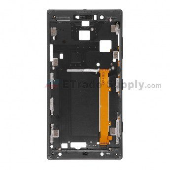 For Nokia Lumia 830 Front Housing Replacement - Black - Grade S+