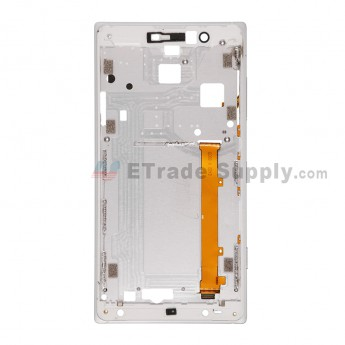 For NK Lumia 830 Front Housing Replacement - Silver - Grade S+