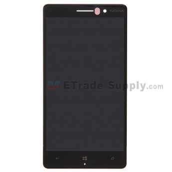 For Nokia Lumia 830 LCD Screen and Digitizer Assembly Replacement - Black - With Logo - Grade S+