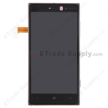 For Nokia Lumia 830 LCD Screen and Digitizer Assembly with Front Housing Replacement - Black - With Logo - Grade A