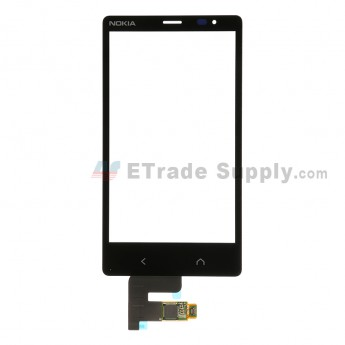 For Nokia X2 Dual SIM Digitizer Touch Screen Replacement - Black - Grade S+