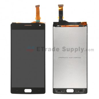 For OnePlus Two LCD Screen and Digitizer Assembly Replacement - Black - Without Logo - Grade S+