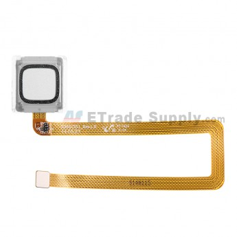 For Reclaimed Huawei Ascend Mate7 Fingerprint Sensor Flex Cable Ribbon Replacement - Silver - Grade S