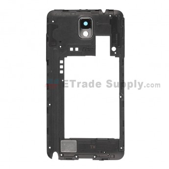 For for Samsung Galaxy Note 3 SM-N900T Rear Housing Replacement - Black - Grade S+