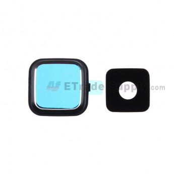 For Samsung Galaxy Note 4 Series Camera Lens and Bezel Replacement - Black - Grade R