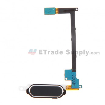 For Samsung Galaxy Note 4 Series Home Button with Flex Cable Ribbon Replacement - Black - Grade S+