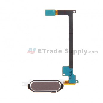 For Samsung Galaxy Note 4 Series Home Button with Flex Cable Ribbon Replacement - Gray - Grade S+