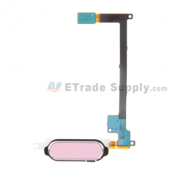 For Samsung Galaxy Note 4 Series Home Button with Flex Cable Ribbon Replacement - Pink - Grade S+
