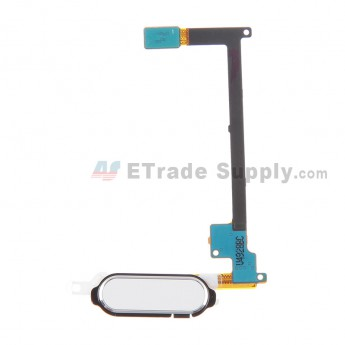 For Samsung Galaxy Note 4 Series Home Button with Flex Cable Ribbon Replacement - White - Grade S+