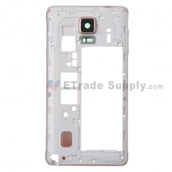 For Samsung Galaxy Note 4 SM-N910F/SM-N910H/SM-N910R4 Rear Housing Replacement - Gold - Grade S+