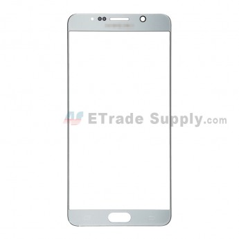 For Samsung Galaxy Note 5 Series Glass Lens Replacement - Silver - With Logo - Grade S+