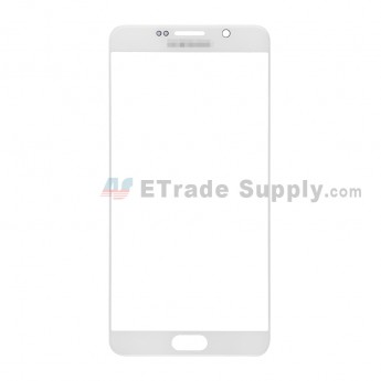 For Samsung Galaxy Note 5 Series Glass Lens Replacement - White - With Logo - Grade S+