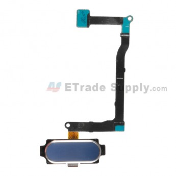 For Samsung Galaxy Note 5 Series Home Button With Flex Cable Ribbon Replacement - Blue - Grade S+