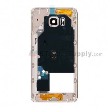 For Samsung Galaxy Note 5 SM-N920V/N920P/N920H/N920F Rear Housing Replacement - Gold - Grade S+