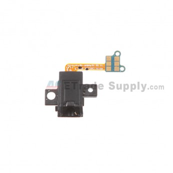 For Samsung Galaxy Note Edge SM-N915 Earphone Jack with Flex Cable Ribbon Replacement - Black - Grade S+