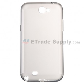 For Samsung Galaxy Note II N7100 Series Silicone Case - Gray - Grade R