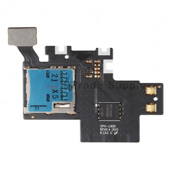For Samsung Galaxy Note II SPH-L900 SIM Card Reader Contact with Flex Cable Ribbon Replacement - Grade S+