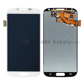 For Samsung Galaxy S4 GT-I9500/I9505/I545/L720/R970/I337/M919/I9502 LCD Screen and Digitizer Assembly Replacement - White - Without Logo - Grade S