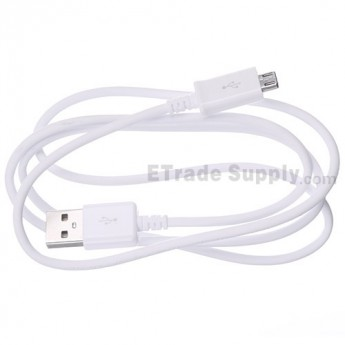 For Samsung Galaxy S4 Series USB Data Cable Replacement - White - Grade R