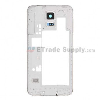 For Samsung Galaxy S5 Duos SM-G900FD Rear Housing Replacement - Black - Grade S+