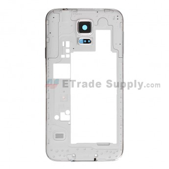 For Samsung Galaxy S5 Duos SM-G900FD Rear Housing Replacement - White - Grade S+