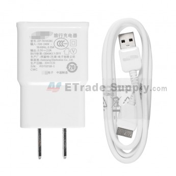 For Samsung Galaxy S5 Series Charger and USB Data Cable Replacement - White - Grade S+