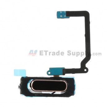 For Samsung Galaxy S5 Series Home Button with Flex Cable Ribbon Replacement - Gold - Grade S+