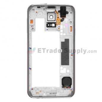 For Samsung Galaxy S5 SM-G900A Rear Housing Replacement - Black Ear Speaker Mesh Cover - Grade S+