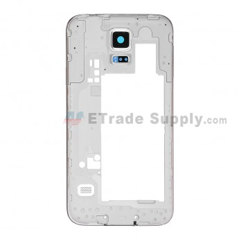 For Samsung Galaxy S5 SM-G900P Rear Housing Replacement - Black - Grade S+