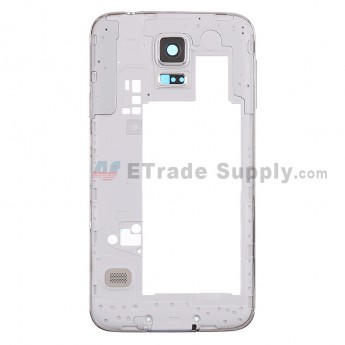 For Samsung Galaxy S5 SM-G900T Rear Housing - White Ear Speaker Mesh Cover Replacement - Grade S+