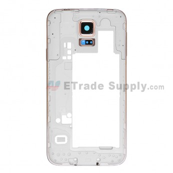 For Samsung Galaxy S5 SM-G900V Rear Housing Replacement - Gold - Grade S+