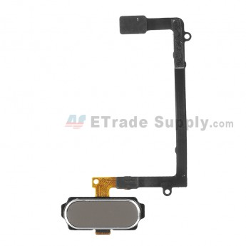 For Samsung Galaxy S6 Edge SM-G925V/G925P/G925R4/G925T/G925W8/G925I/G925F/G925A Home Button With Flex Cable Ribbon Replacement - Gold - Grade S+