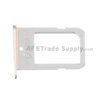 For Samsung Galaxy S6 Edge SM-G925V/G925P/G925R4/G925T/G925W8/G925I/G925F/G925A SIM Card Tray Replacement - Gold - Grade S+