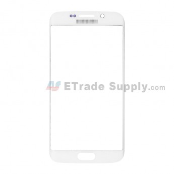 For Samsung Galaxy S6 Edge Samsung-G925V/G925P/G925R4/G925T/G925W8/G925I/G925F/G925A Glass Lens Replacement - White - With Logo - Grade S+