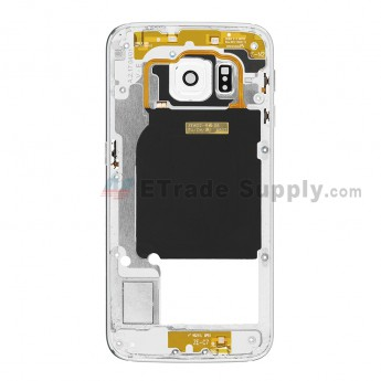 For Samsung Galaxy S6 Edge SM-G925A Rear Housing Replacement - White - Grade S+