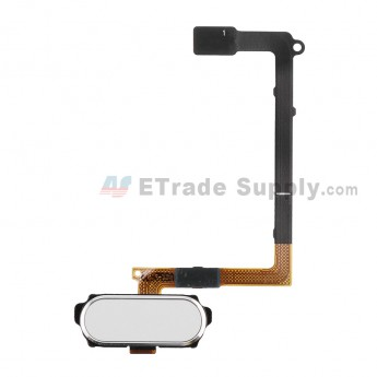 For Samsung Galaxy S6 Series Home Button Flex Cable Ribbon Replacement - White - Grade S+