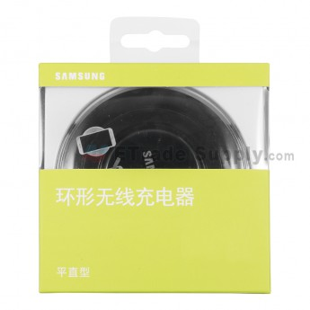 For Samsung Galaxy S6 Series Round Wireless Charging Pad - Black - Grade S