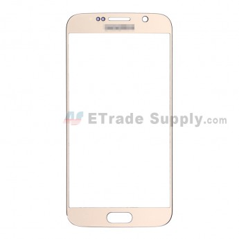 For Samsung Galaxy S6 Samsung-G920/G920A/G920P/G920R4/G920T/G920F/G920V Glass Lens Replacement - Gold - With Logo - Grade S+